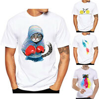 Niño Hombre Básico camiseta Blusa Verano Casual Manga Corta Suéter Deporte