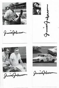 Junior Johnson Signed 3x5 Index Card NASCAR Racing HOF