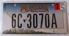 Montana 2009 GALLATIN COUNTY License Plate NATURAL HIGH QUALITY # 6C-3070A