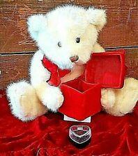 Luxurious 12 Inch Gund Teddy Bear Holding Velvet Treasure Box-Present Engagement