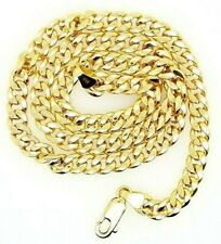 Thick 15 Inches Womens Mens 9 grams 10K Yellow Gold Miami Cuban Chain 5 Mm