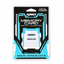 Wii - Memory Card - Gamecube Compatible - 128MB - 2043 Blocks (KMD)