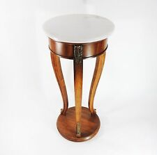 Vintage Original Weiman Marble Top Wood Side End Table Stand