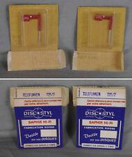 Lot de 2 x saphirs neufs adaptables  Telefunken A25/2 -  A23/2  Discostyl