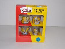 """The Simpsons"" - 4-Pack Shot Glass Set - by Matt Groening - 100% Glass - 2000"