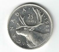 CANADA 1953 NSF LD 25 CENTS QUARTER QUEEN ELIZABETH II CANADIAN SILVER COIN