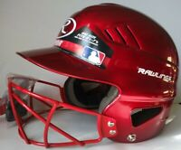 Rawlings Vapor Baseball Batting Helmet With Face Guard 6 1/2--7 1/2 Red