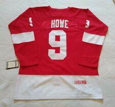 Replica Gordie Howe #9 Detroit Red Wings Jersey - Size XL - Read Description!!