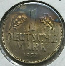 1957 D Germany 1 One Mark - Colorful Toning