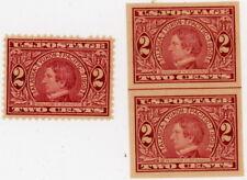 LOT 1909 Scott #370 371 2 cents William Seward MINT NH OG  Perf & Imperf XF LOOK