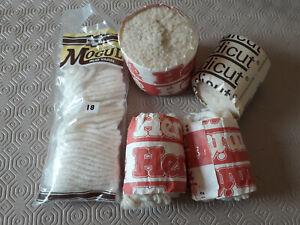 Vintage Readicut + other Rug Wool - cream