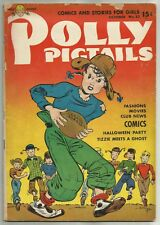 POLLY PIGTAILS #33 (Football Cover, Tizzie and Pigtail Club) Parents' Mag., 1948