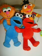 Lot of 4 Sesame Street Character Plush Toys by Fisher Price 2003 2004 NWT