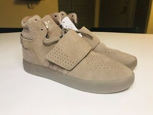 *NEW* Adidas Tubular Invader Strap Brown Suede Mens Shoes CG5068; Size 8