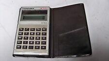 Vintage Hanimex Sc 854 Solar Calculator with Case Pocket Size