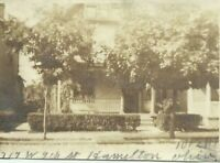 Hamilton Ohio House 719 9th Street 1917 Vintage Snapshot Photo Butler