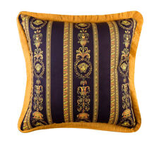 Italian Vintage Medusa Head Fall Sofa Throw Pillows Barocco Black Gold Cushion