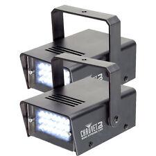 2 x Chauvet LED LUCE MINI STROBO DJ DISCO PARTY effetto strobo velocità regolabile