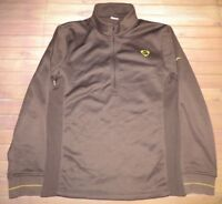 Nike 1/2 Zip Long Sleeve Pullover Sweatshirt Mens Small Brown Running Training