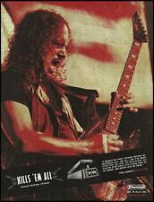 Metallica Kirk Hammett Dunlop Cry Baby Wah Pedal ad 8 x 11 advertisement print