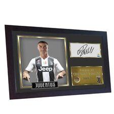 Cristiano Ronaldo Juventus signed photo print autograph poster FRAMED MDF