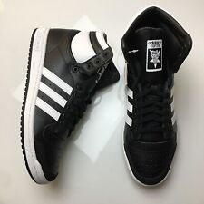 ADIDAS ORIGINALS TOP TEN HI BLACK WHITE OG LEATHER Mens Sizes NEW
