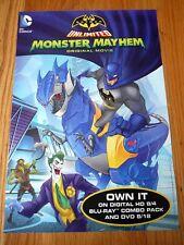 DC Comics BATMAN UNLIMITED MONSTERS MAYHEM Original sdcc 2015 Poster