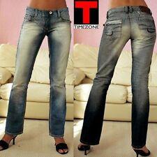 TIMEZONE Jeans NEU W25 / L32 Damen Hose Gr.32 Blau Used Vintage Blue