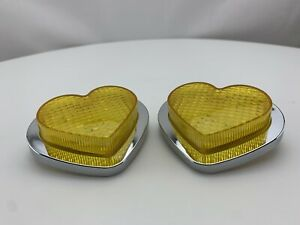 JDM Heart LED Side Marker Indicators Pair Yellow