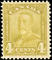 Mint Canada F+ Scott #152 4c 1929 KGV Scroll Issue Stamp Never Hinged