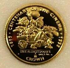 The Flintstones solid Gold proof coin 1/25 oz authentic- from Gibraltar- Cool!