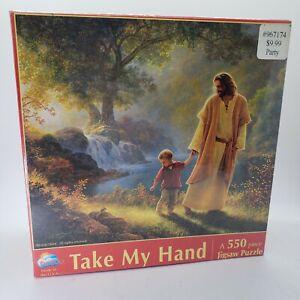 NEW Take My Hand Jigsaw Bible Puzzle 550 Jesus Child Greg Olsen Christian