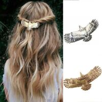 Viking Hair Clips Alloy Raven Eagle Vintage Barrettes For Women Hairpin t