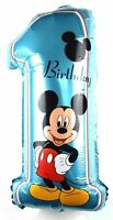 R23F6 XL Disney Micky Helium Folienballon Zahlen 1 Kind Geburtstag Junge balloon