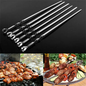 BBQ BARBECUE STICKS METAL SKEWERS KEBAB OUTDOOR GRILL