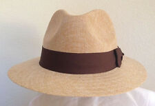 STETSON * NEW MEN FEDORA HAT L * PANAMA STYLE DRESS SAFARI GOLF SUMMER SUN SHADY