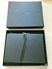 HUGO BOSS A6 Folder and BLACK NOTEBOOK PLAIN PAGES Black Boxed