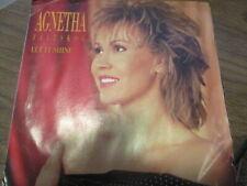 "1989 AGNETHA FALTSKOG Let It Shine US Blue Label Promo PS 7"" Atlantic NM/VG ABBA"