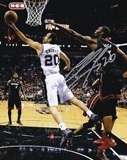 Manu Ginobili Signed 8X10 Photo Autograph San Antonio Spurs