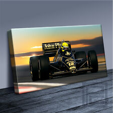 AYRTON SENNA CANVAS LEGENDARY FORMULA 1 ICONIC JPS LOTUS ART PRINT Art Williams
