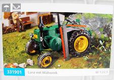 Pola 331901 Traktor Lanz in grün mit Mähwerk für Spur G  NEUWARE mit OVP