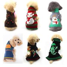 Halloween Christmas Pet Clothes Cat Dog Sweater Winter Knit Jumper Coat Apparel