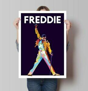 Freddie Mercury Poster / Print - Queen Pop Music Retro Art - A5 A4 A3 A2 A1