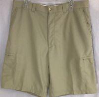"""Top Flite Tan Beige Golf Shorts Size 36 Actual: 36"""" With 6 Pockets"""