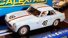SCALEXTRIC Slot Car 1:32 MGB 1964 Sebring Blue NEW Digital Plug Ready LIGHTS