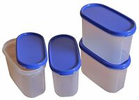 Tupperware Storage Modular Mates MM Oval # 2- (Set of 4) 1.1 L- with Seal-NEW!