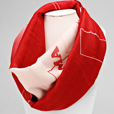 Red and White Oklahoma Infinity Scarf