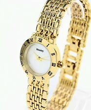 Henley Ladies Quartz Dress Watch, Gold Tone Metal Links, New in Hinged Gift Box