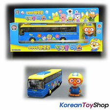 Pororo School Bus(diecast) & Pororo Character Doll, Blue Color bus Original