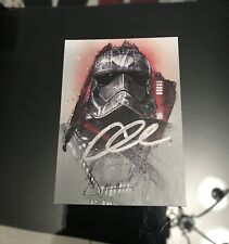Gwendoline Christie Signed Topps Star Wars Captain Phasma Card With EXACT PROOF